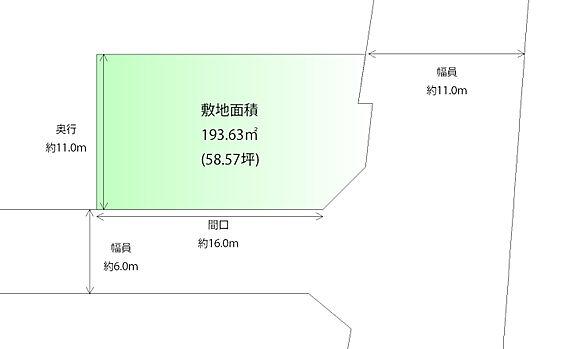 土地-黒川郡大和町吉岡字石神沢 区画図