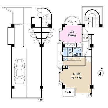 マンション(建物一部)-目黒区東が丘2丁目 専有面積55.17平米 専用駐車場あり