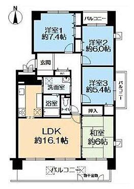 マンション(建物一部)-神戸市北区藤原台北町5丁目 三面バルコニーのファミール向け物件