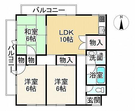 中古マンション-神戸市垂水区星が丘1丁目 間取り