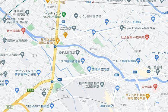 区分マンション-福岡市東区二又瀬新町 地図