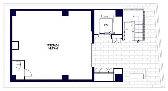 収益ビル-中央区築地3丁目 1階店舗部分
