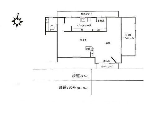 店舗(建物全部)-越谷市蒲生寿町 間取り