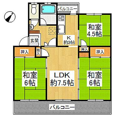 マンション(建物一部)-堺市南区茶山台2丁 間取り