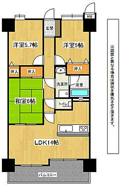 マンション(建物全部)-北九州市小倉南区北方2丁目 307号3LDK(70.6m2)