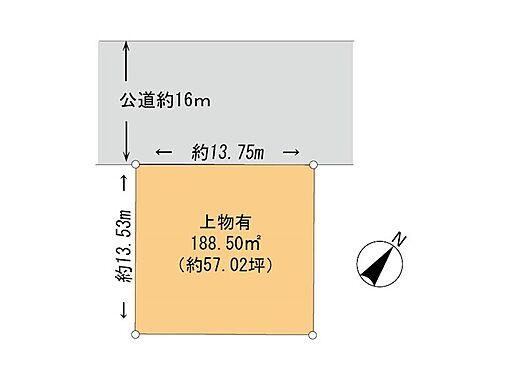土地-千葉市花見川区朝日ケ丘5丁目 区画図