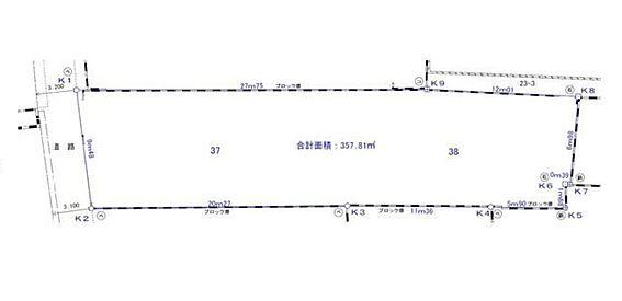 土地-千葉市中央区新宿1丁目 区画図
