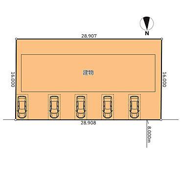 アパート-石狩市花川東二条2丁目 敷地配置図