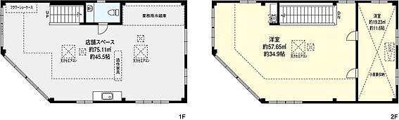店舗事務所(建物全部)-豊中市緑丘4丁目 専有面積165.36平米。鉄骨造、平成12年7月建築