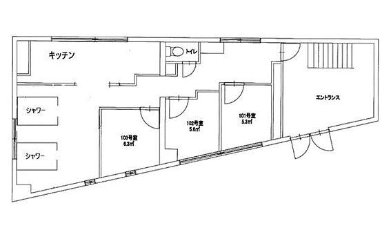 一棟マンション-江東区亀戸8丁目 1階間取図