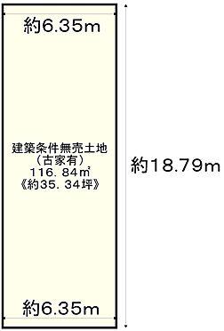 土地-京都市左京区浄土寺上馬場町 区画図