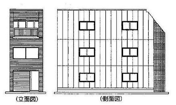 ビル(建物全部)-さいたま市南区南浦和2丁目 立面図・側面図