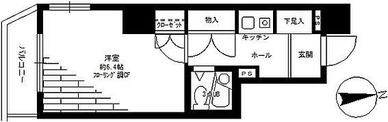 マンション(建物一部)-川崎市中原区苅宿 間取り