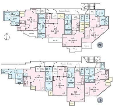 アパート-横須賀市久比里2丁目 ベルガーデン久比里2・ライズプランニング