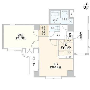 マンション(建物一部)-中央区八丁堀2丁目 間取り