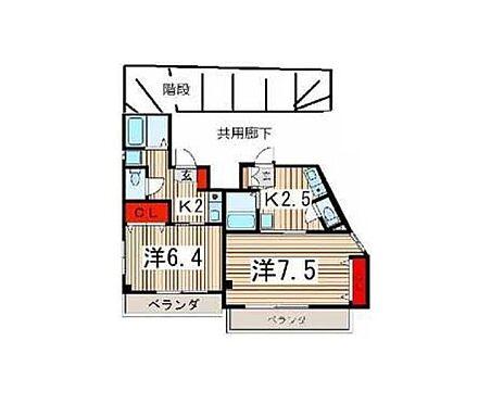 マンション(建物全部)-所沢市元町 間取り