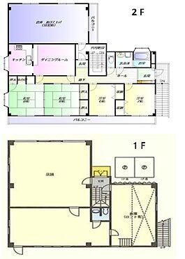 店舗付住宅(建物全部)-市原市能満 1階店舗は倉庫兼事務所として賃貸中。2階も住居用にて賃貸中。