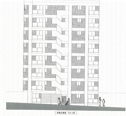 一棟マンション-新宿区戸山3丁目 立面図