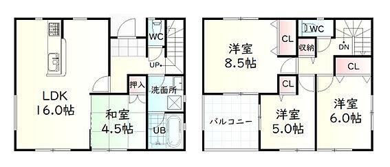 新築一戸建て-角田市梶賀字西 間取り