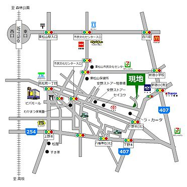 土地-東松山市若松町2丁目 地図