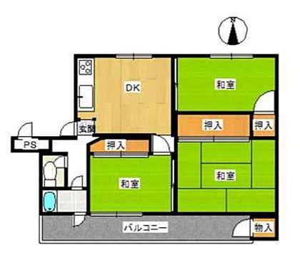 マンション(建物一部)-堺市西区平岡町 間取り