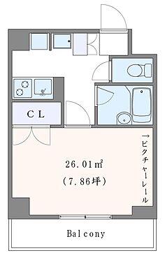 マンション(建物一部)-横浜市南区前里町3丁目 南東向きのゆとりある1Kタイプのお部屋です。