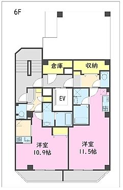 一棟マンション-江東区東陽5丁目 6階 間取図