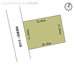 富士ヶ嶺高原 緑の村 整形地 南側6m公道 公営水道可