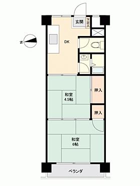 マンション(建物一部)-調布市染地 間取り