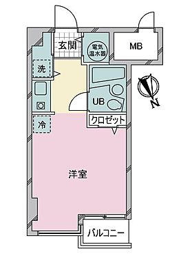 中古マンション-渋谷区千駄ヶ谷4丁目 間取り