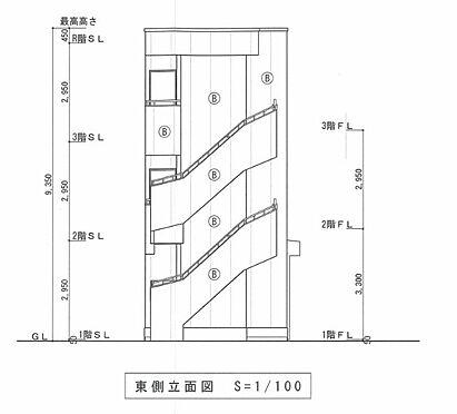 マンション(建物全部)-川越市大字小堤 東側 立面図