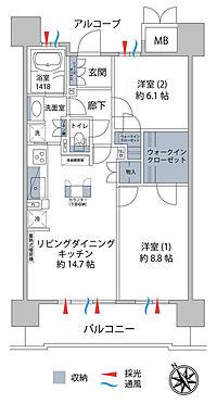 区分マンション-会津若松市中央3丁目 間取り