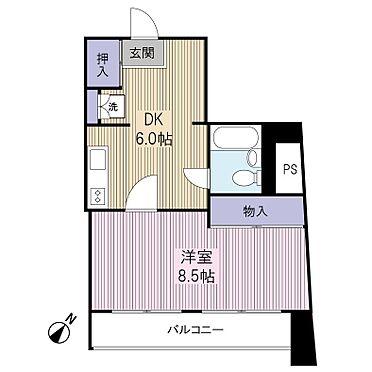 中古マンション-港区芝4丁目 間取り1LDK