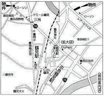住宅付店舗(建物全部)-横浜市鶴見区佃野町 地図