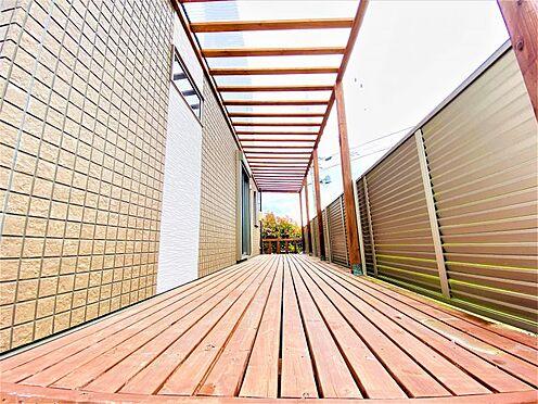 中古一戸建て-春日井市庄名町 ウッドデッキ付き!夏はプールを置いて水遊びもできます!洗濯物を干しても屋根付きなので急な雨にも対応可能!