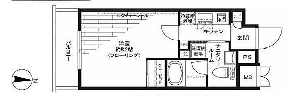 マンション(建物一部)-新宿区榎町 間取り