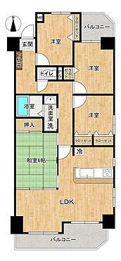 中古マンション-名古屋市守山区小幡千代田 洋室3室、和室1室の4LDK73.27平米の物件です。