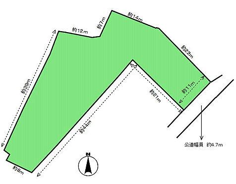 土地-豊川市国府町池田 区画図