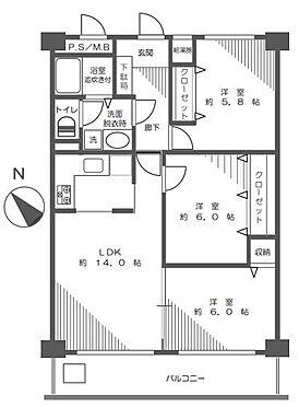 中古マンション-富士見市東みずほ台2丁目 間取り