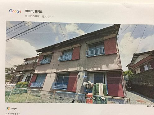 アパート-磐田市西貝塚 グーグルより南面より