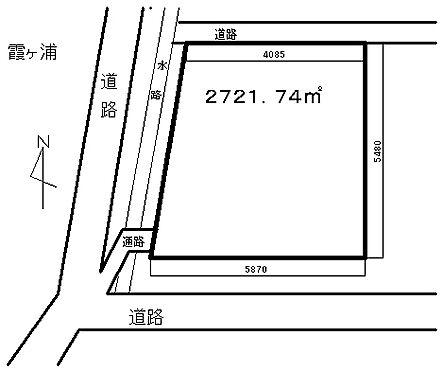 土地-稲敷市大島 区画図