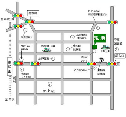 中古マンション-東松山市本町2丁目 地図