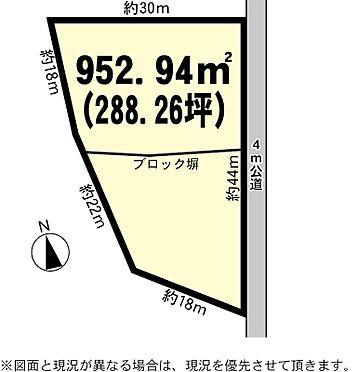 土地-土浦市烏山5丁目 区画図