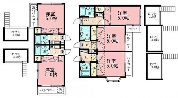 アパート-船橋市新高根4丁目 船橋市 一棟売アパート 間取り図