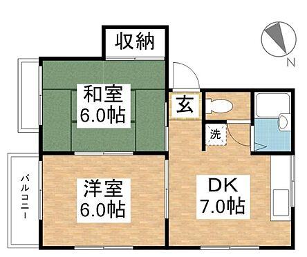 アパート-倉敷市福田町浦田 間取り
