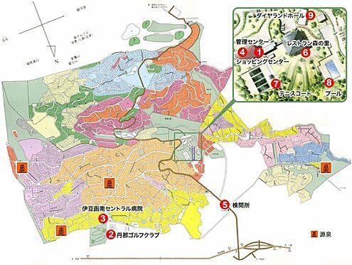 中古一戸建て-田方郡函南町平井 【別荘地全体図】24時間年中無休の防犯管理体制のもと、約800世帯の方々が定住生活を満喫されています
