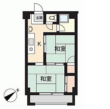 区分マンション-広島市西区南観音4丁目 間取り図