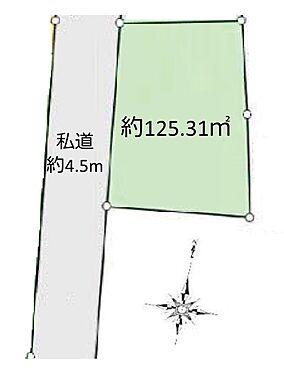 土地-八王子市裏高尾町 区画図