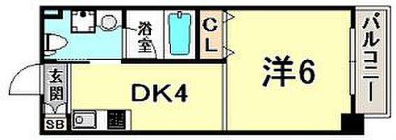 区分マンション-神戸市中央区日暮通4丁目 間取り