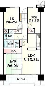 中古マンション-仙台市泉区市名坂字本屋敷 間取り